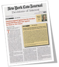 Kiley Law Firm Makes The Front Page of The NEW York Law Journal